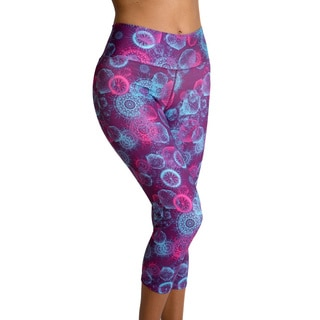 Women's Be Up Supreme Fitted Capri Kaleidoscope