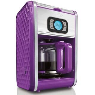 Bella DIAMONDS Purple 12-cup Programmable Coffee Maker