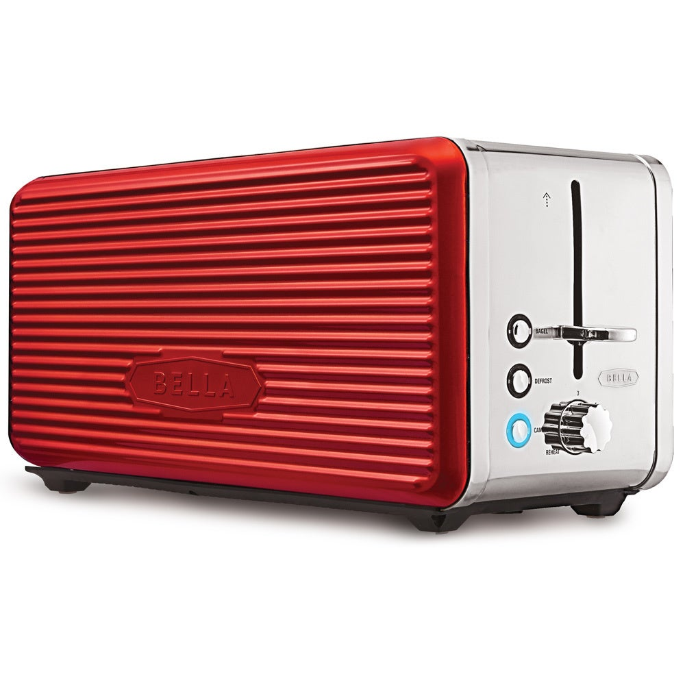 Bella Linea Red 4-Slice Toaster (Metal)