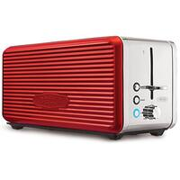 Bella Linea Red 4-Slice Toaster