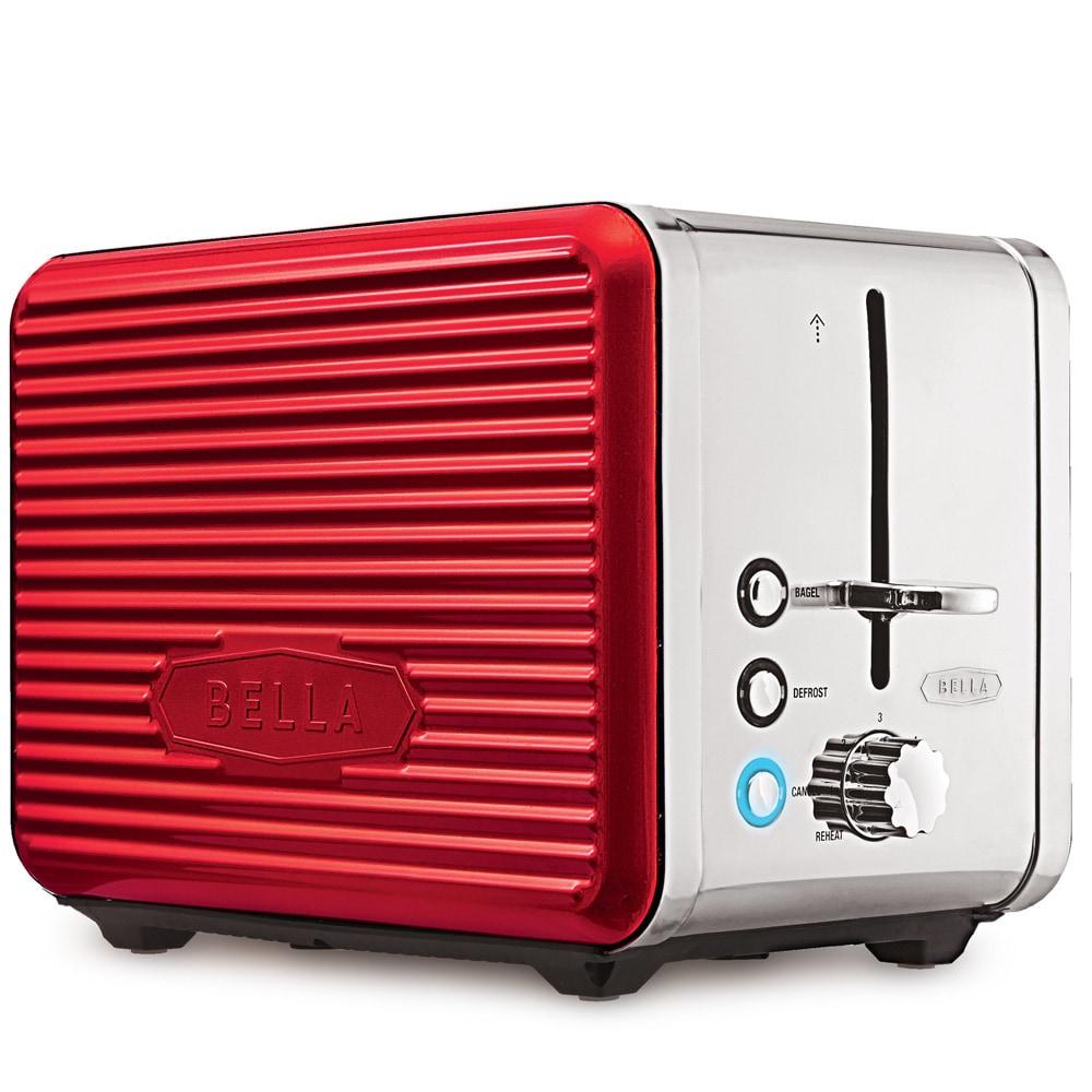 Bella Linea Red 2-Slice Toaster (Metal)