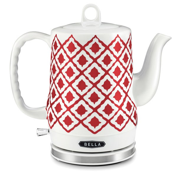 Shop Bella Electric Ceramic Kettle Red Free Shipping Today Overstock 10663303