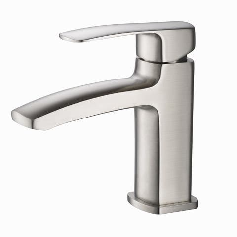 Fresca Fiora Brushed Nickel Single-hole Mount Vanity Faucet