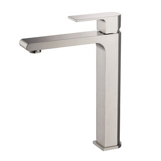 Fresca Allaro Brushed Nickel Single-hole Vessel Mount Vanity Faucet