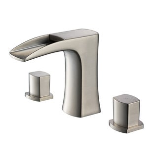 Fresca Fortore Brushed Nickel Widespread Mount Vanity Faucet