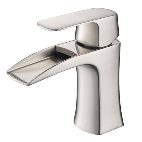 Fresca Fortore Brushed Nickel Single-hole Mount Vanity Faucet
