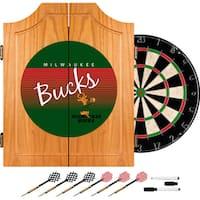 Milwaukee Bucks Hardwood Classics NBA Wood Dart Cabinet
