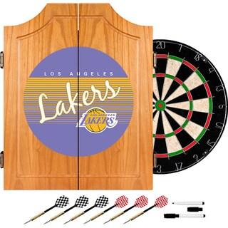 Los Angeles Lakers Hardwood Classics NBA Wood Dart Cabinet