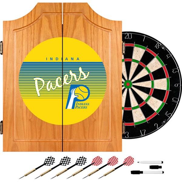 Indiana Pacers Hardwood Classics NBA Wood Dart Cabinet