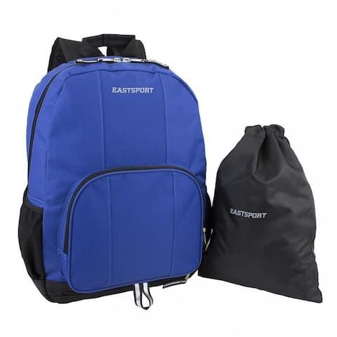 Eastsport Classic Backpack with Bonus Drawstring Bag
