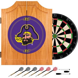 East Carolina U. Dart Cabinet - Includes Darts and Board