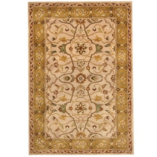 Herat Oriental Indo Hand-tufted Mahal Beige/ Gold Wool Rug (6' x 9')