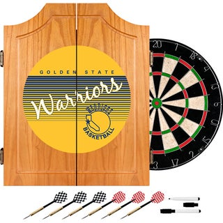Golden State Warrior Hardwood Classics NBA Wood Dart Cabinet