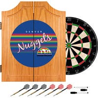 Denver Nuggets Hardwood Classics NBA Wood Dart Cabinet