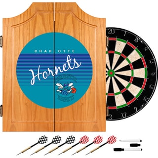 Charlotte Hornets Hardwood Classics NBA Wood Dart Cabinet