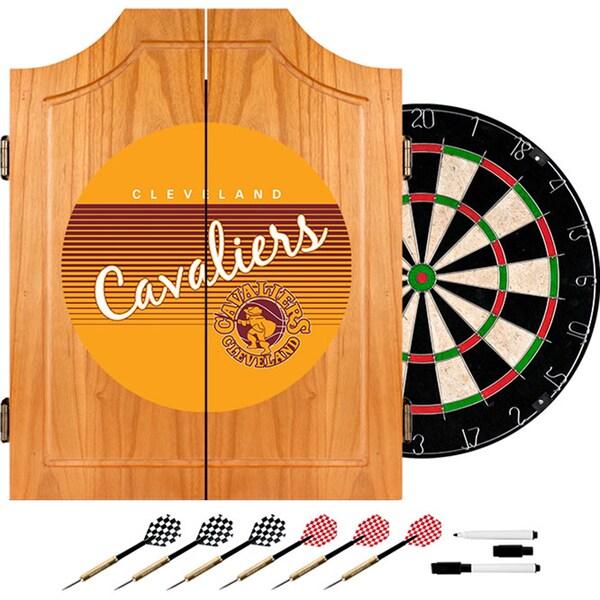 Cleveland Cavaliers Hardwood Classics NBA Wood Dart Cabinet