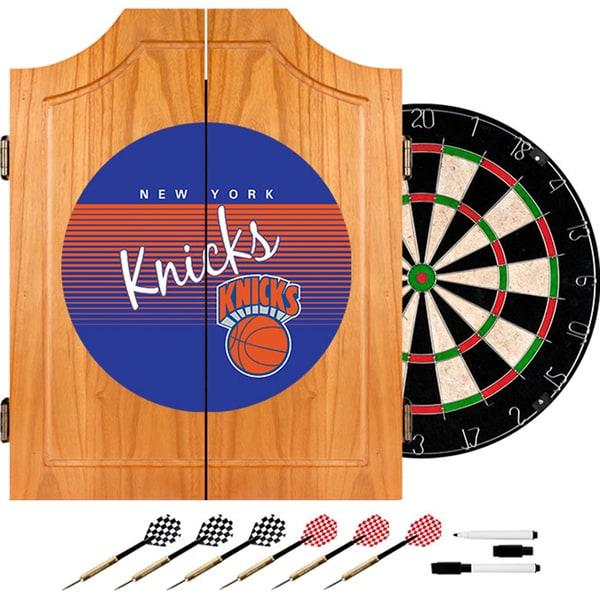New York Knicks Hardwood Classics NBA Wood Dart Cabinet