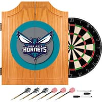Charlotte Hornets NBA Wood Dart Cabinet Set