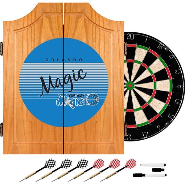 Orlando Magic Hardwood Classics NBA Wood Dart Cabinet