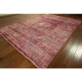 Pink Cast Overdyed Persian Area Rug Hand-knotted Wool Rugs (9' x 12')