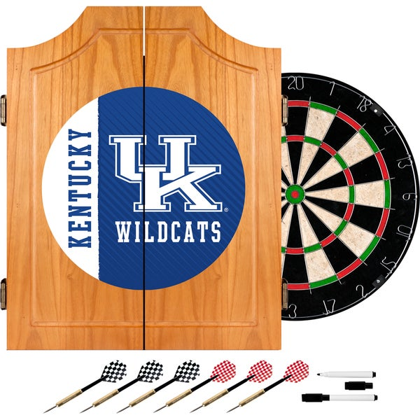 University of Kentucky Wood Dart Cabinet Set - Text