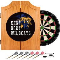 University of Kentucky Wildcats Wood Dart Cabinet Set - Smoke