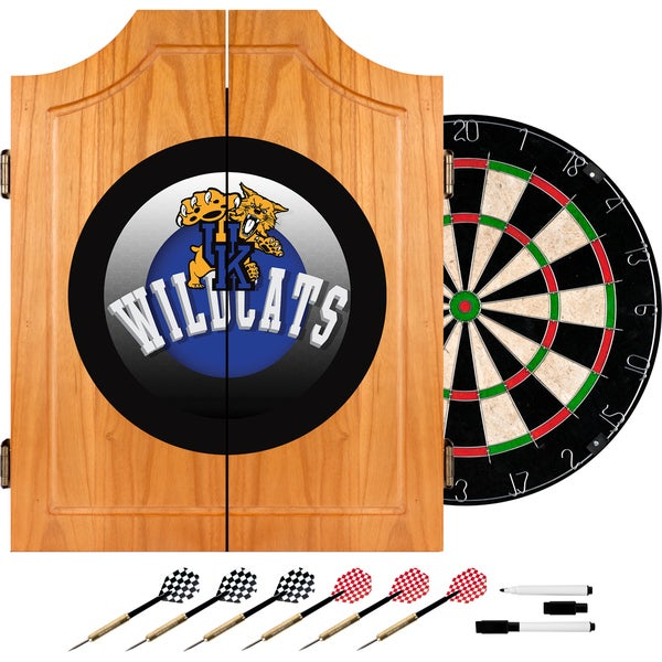 University of Kentucky Wildcats Wood Dart Cabinet Set - Honeycomb