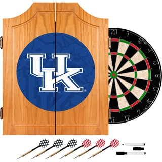 University of Kentucky Wood Dart Cabinet Set - Fade