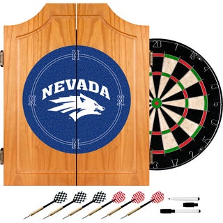 University of Nevada Wood Dart Cabinet Set