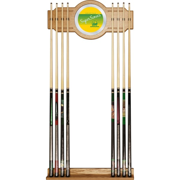 Seattle Super Sonics Hardwood Classics NBA Cue Rack with Mirror