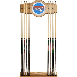 San Diego Clippers Hardwood Classics NBA Cue Rack with Mirror