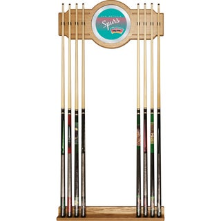 San Antonio Spurs Hardwood Classics NBA Cue Rack with Mirror