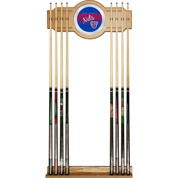 New Jersey Nets Hardwood Classics NBA Cue Rack with Mirror