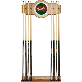 Milwaukee Bucks Hardwood Classics NBA Cue Rack with Mirror