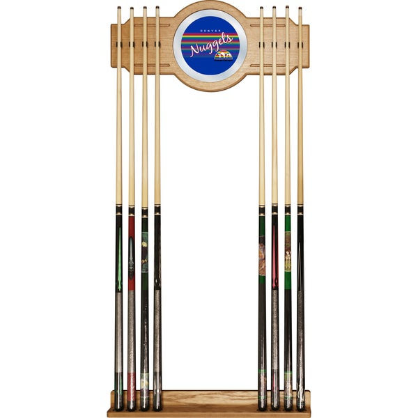 Denver Nuggets Hardwood Classics NBA Cue Rack with Mirror