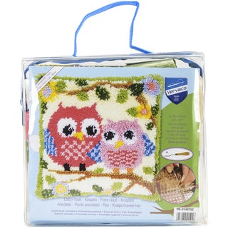 "Vervaco Cushion Latch Hook Kit 16""X16""-Owls On A Branch"