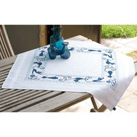 Cheerful Cats Tablecloth Stamped Embroidery Kit