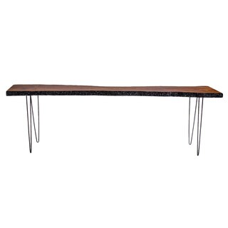 Reclaimed Wood Gold Console Table
