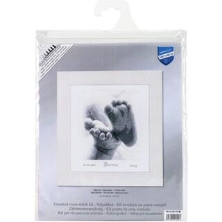 Baby Feet Birth Record On Aida Counted Cross Stitch Kit