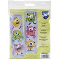 Little Monsters Bookmarks On Aida Counted Cross Stitch Kit