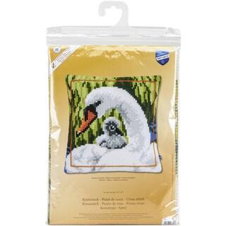 Swan And Cygnet Cushion Cross Stitch Kit