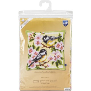 Birds And Blossoms Cushion Cross Stitch Kit