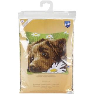Chocolate Labrador Cushion Cross Stitch Kit