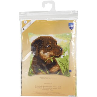 Rottweiler Puppy Cushion Cross Stitch Kit