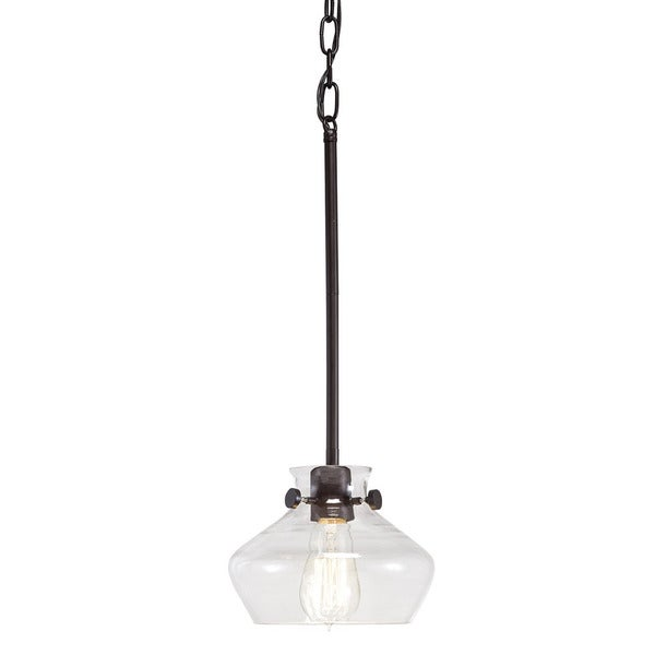 Transitional 1-light Bronze Mini Pendant. Opens flyout.