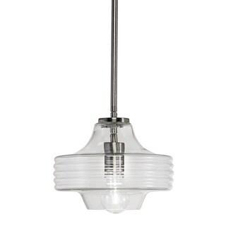 Transitional 1-light Brushed Nickel Mini Pendant