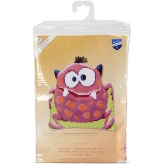 Pink Monster I Shaped Cushion Cross Stitch Kit