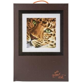 LanArte Leopard On Aida Counted Cross Stitch Kit