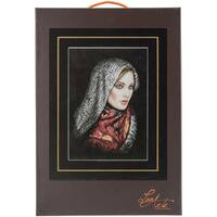 LanArte Women In Veil On Aida Counted Cross Stitch Kit