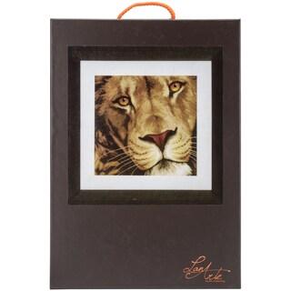 LanArte King Of Animals On Aida Counted Cross Stitch Kit